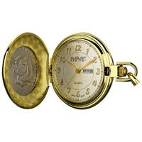 August Steiner Men's JFK Coin Pocket Watch - GOLD