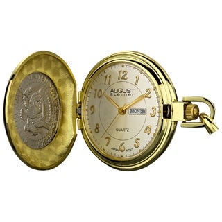 August Steiner Men's JFK Coin Pocket Watch