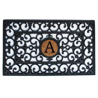 Rubber Monogrammed Doormat (1'6 x 2'6) (More options available)