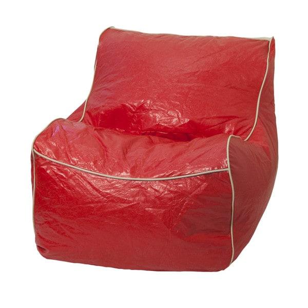 Red Vinyl Sectional Bean Bag
