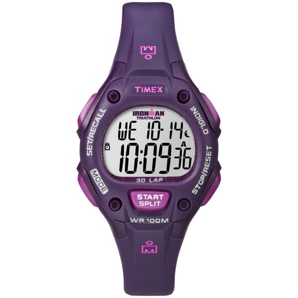 Timex Women's Ironman Traditional 30-Lap Plum Digital Watch