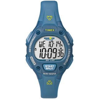 Timex T5K7579J Women's Ironman Traditional 30-lap Teal Digital Watch