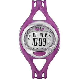 Timex T5K7599J Unisex Ironman Sleek 50-lap Fuchsia Resin Strap Watch