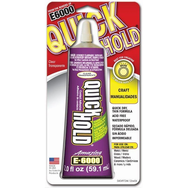Eclectic Institute E6000 Quick Hold Adhesive (2 Ounces) (...