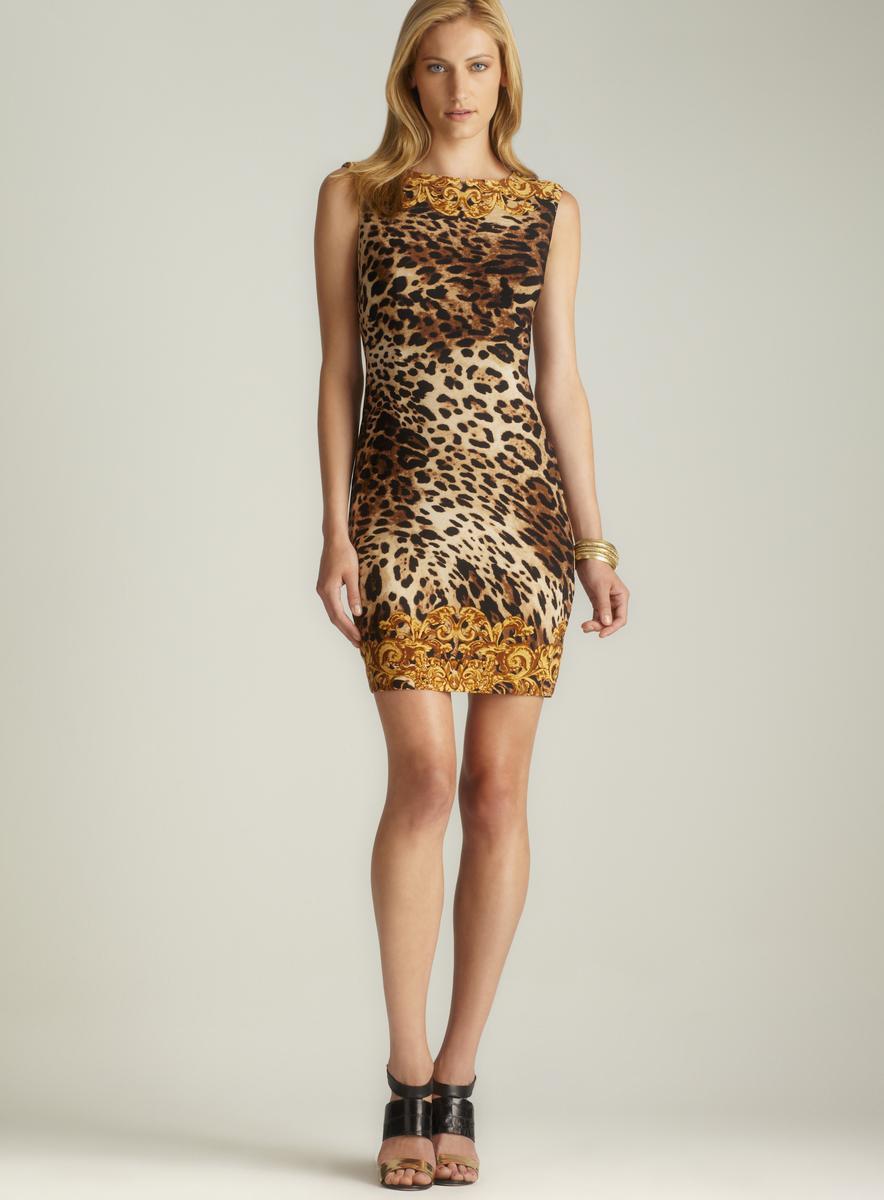 Carmen Marc Valvo Leopard Print Sheath Dress - Free Shipping On Orders ...