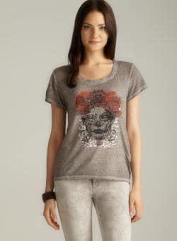 Threads 4 Thought Roses & Skull Tee