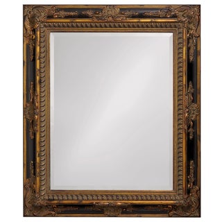 Moroccan Wood Frame Mirror - Bronze