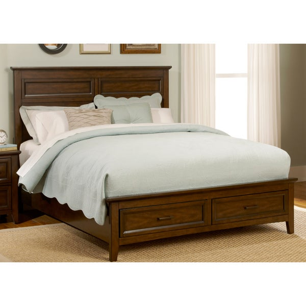 Laurel Creek Cinnamon Finish Bed with Storage Footboard