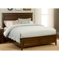 Laurel Creek Cinnamon Finish Bed with Storage Footboard