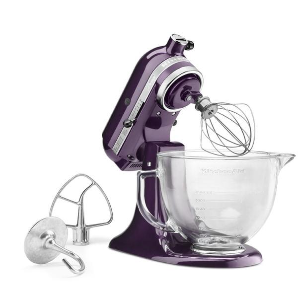 Kitchenaid Artisan Design Series 5 Qt Stand Mixer kitchenaid ksm155gbpb plumberry 5-quart artisan design tilt-head