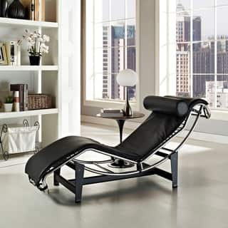 living room set with chaise. Le Corbusier Style LC4 Genuine Leather Chaise Lounge Lounges Living Room Furniture For Less  Overstock com