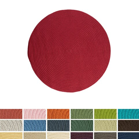 Havenside Home Rodanthe Round Reversible Indoor/ Outdoor Area Rug (6' x 6')