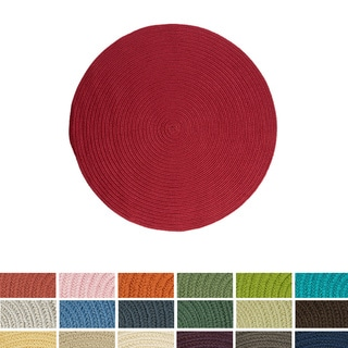 Anywhere Round Reversible Indoor/ Outdoor Rug (8' x 8') - 8' x 8'