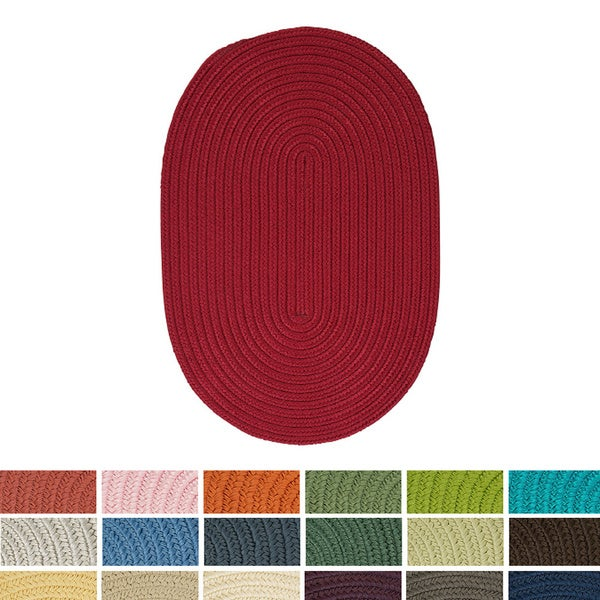 Anywhere Oval Reversible Indoor/ Outdoor Braided Reversible Rug USA MADE (6' x 9') - 6' x 9'