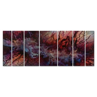 Michael Lang 'The Ache of Time' Metal Wall Art 7-piece Set