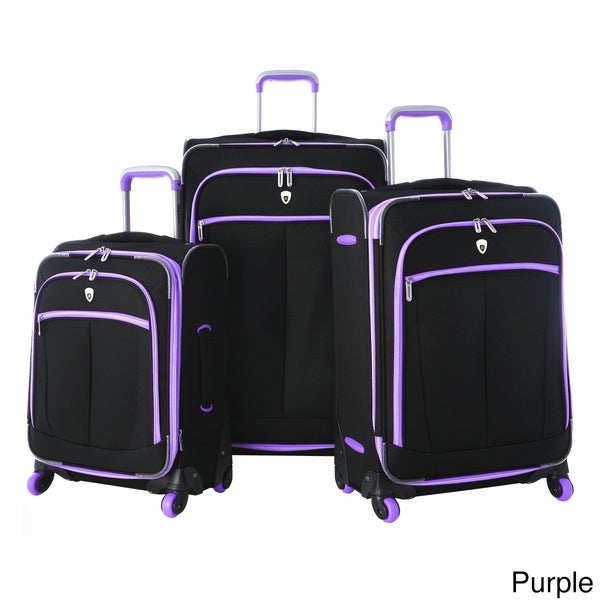 Olympia 'Evansville' 3-piece Spinner Luggage Set