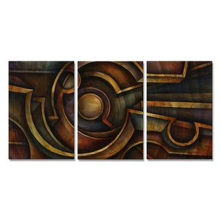 Michael Lang 'Oraganic Industry' Metal Wall Art 3-piece Set