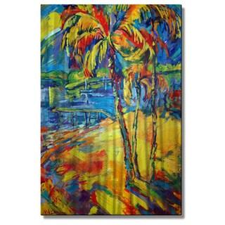 Irina Ashcroft 'Tropical Splash' Metal Wall Art