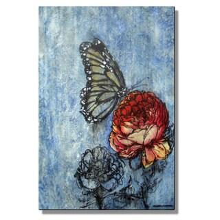 Christina Loraine 'Monarch Visits the Garden' Metal Wall Art