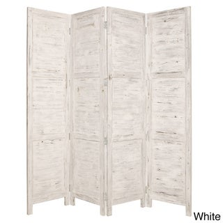 Nantucket 4-Panel Wood Screen (China)
