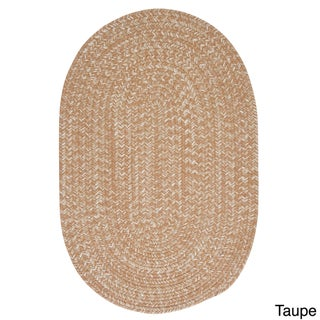 Urban Blend Braided Reversible Rug USA MADE - 6' x 9' (Option: Taupe)