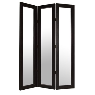 Bellevue 3-Panel Mirror Leather Screen (China)