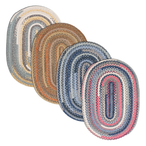 Perfect Stitch Multicolor Braided Cotton-blend Rug