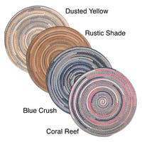 Perfect Stitch Multicolor Braided Cotton-blend Rug (6' Round) - 6' x 6'