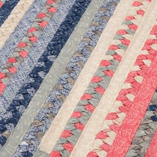 Perfect Stitch Multicolor Braided Cotton-blend Rug (8' Round)