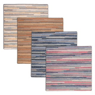Perfect Stitch Multicolor Braided Cotton-blend Rug (6' Square)