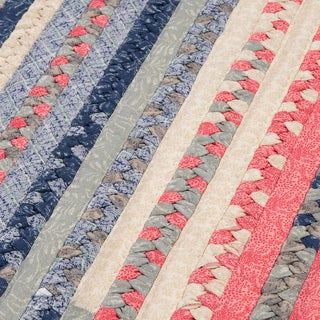 Perfect Stitch Multicolor Braided Cotton-blend Rug (8' Square)