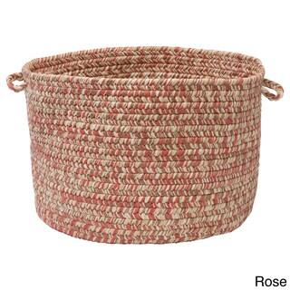 "'Canyon' 18-inch Tweed Braided Basket (Option: Canyon Tweed Rose 18""x12"" Utility Basket)"