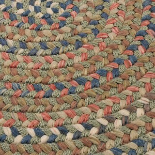 'Greenwood' Multi-colored Flat Braided Rug (4' x 6')