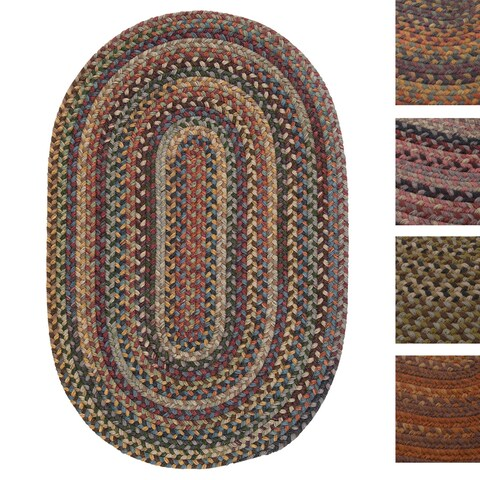 Pine Canopy Tonto Multicolored Wool Braided Reversible Rug - 3' x 5'