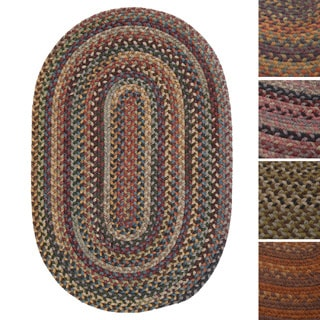 Forester Multicolored Braided Reversible Wool Rug USA MADE - 4' x 6'