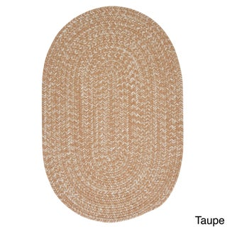 'Urban' Wool Blend Flat Braided Rug (2' x 3' Oval) - 2' x 3' (Option: Taupe)
