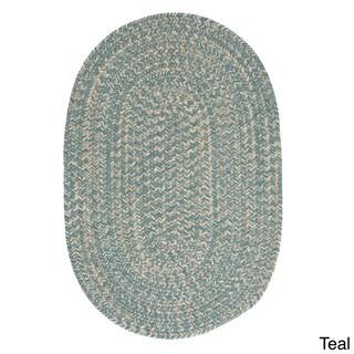'Urban' Wool Blend Flat Braided Rug (3' x 5' Oval)