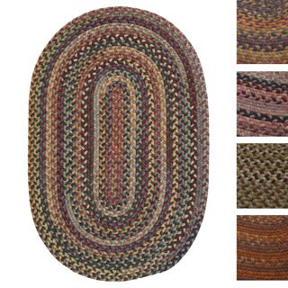 Forester Multicolored Wool Oval Area Rug (8' x 10')
