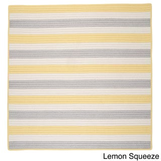Striped Out Indoor/ Outdoor Area Rug (6' x 6') - 6' x 6'