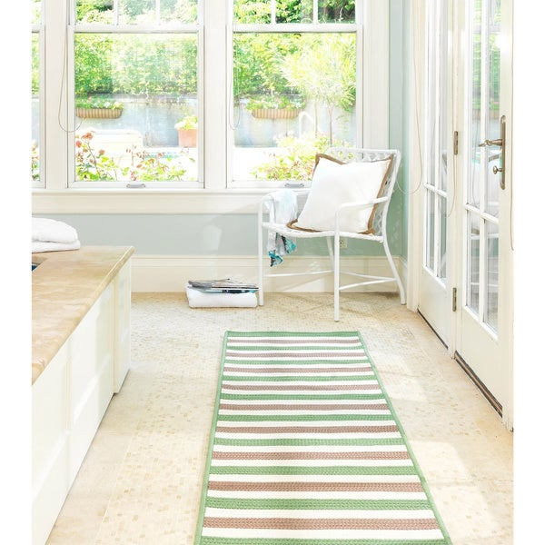 Striped Out Indoor/Outdoor Braided Reversible Rug USA MADE - 8' x 10'
