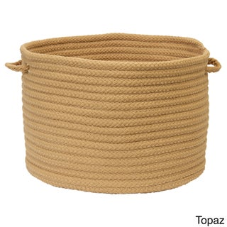 Solid Poly Woven 18-inch Utility Basket (Option: Topaz)