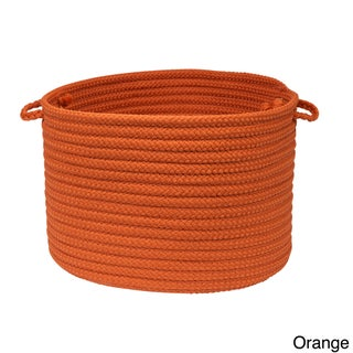 Solid Poly Woven 18-inch Utility Basket (Option: Orange)