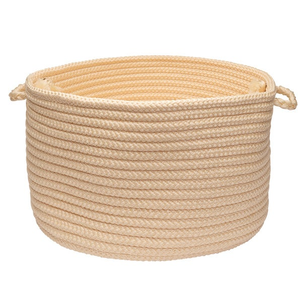 Solid Poly Woven 18-inch Utility Basket