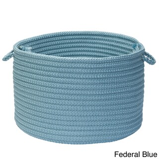 Solid Poly Woven 18-inch Utility Basket (More options available)