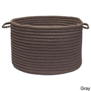 """Solid Braided Storage Baskets (Option: Solid Poly - Gray 14""""x10"""" Utility Basket)"""