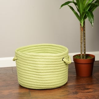 Solid Braided Storage Baskets