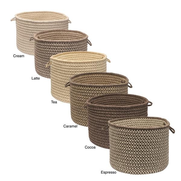 Natural Wool Criss-cross Braided Basket