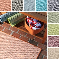 Crisscross Indoor/ Outdoor Area Rug (6' x 6') - 6' x 6'