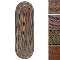 Pine Canopy Tonto Oval Braided Wool Rug (2'x8')