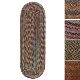Forester Oval Braided Wool Rug (2'x8')